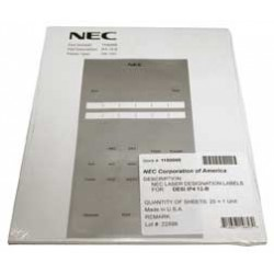 NEC - 1100066 - NEC Desi Sheet 12 Button Telephone - 25 / Pack