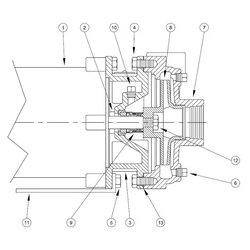 Burks / Crane - 0115516 - GA4 Series Pump Parts, Case Gasket