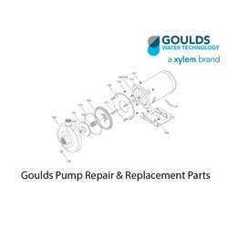 Goulds Water / Xylem - 0119-27 - Goulds 0119-27 Model NPE - F Frame-Mounted Pump Bedplate