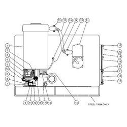 Burks / Crane - 04177 - GV6 Series Pump Parts, Gasket - 23 & 36 Gal. Tanks