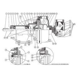 Burks / Crane - 21732 - EC & ED Series Pump Parts, Gasket, Strainer - Buna-N