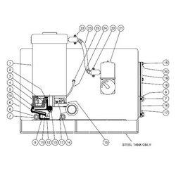 Burks / Crane - B8285-1-L13 - GV6 Series Pump Parts, Gasket, Plate - 20 Gal. Tanks