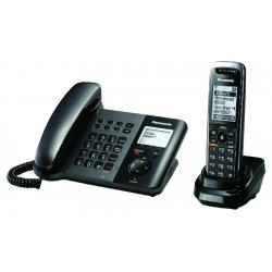 Panasonic - KX-TGP550T04-EKEY - TGP550 SIP DECT Phone Corded / Cordless Base with 1 TPA50 - with Encrypt Key