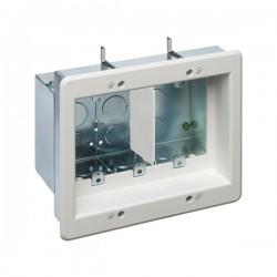 Arlington Industries - TVBS507 - Arlington TVBS507 Recessed Electrical Box 3-Gang White