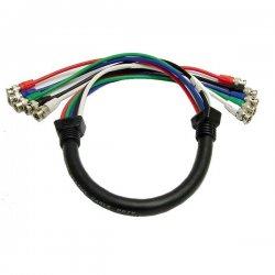 Calrad - 55-611-15 - Calrad Electronics 55-611-15 Shielded RGB Video Cable 5 BNC Males 15'