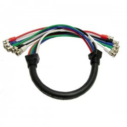 Calrad - 55-611-6 - Calrad Electronics 55-611-6 Shielded RGB Video Cable 5 BNC Males 6'