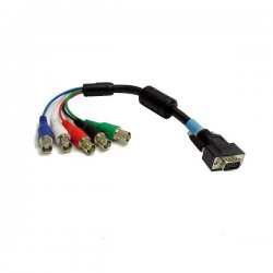 Calrad - 556211 - Calrad Electronics 55-621-1 DB15 Male to 5 BNC Females RGB-HDTY Cable