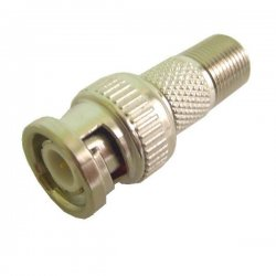 Calrad - 75-679 - Calrad Electronics 75-679 BNC Male to F Female Adapter 75 Ohms