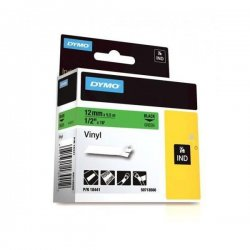 DYMO - 18441 - Vinyl Labels Green 1/2in x 18' for Rhino Labelers