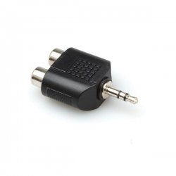Hosa - GRM193 - Hosa Y Audio Adapter - 2 x RCA Female Audio - 1 x Mini-phone Male Audio