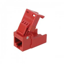 Platinum Tools - 706RD-1 - Platinum Tools CAT6 EZ-Snapjack, Red - 1pc