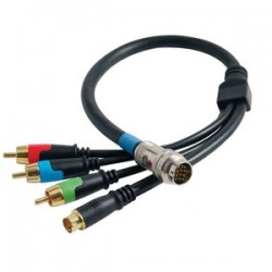 C2G (Cables To Go) - 42077 - C2G 6ft RapidRun RCA Component Video + S-Video Flying Lead - MUVI Male - mini-DIN Male, RCA Male - 6ft - Black