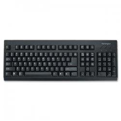 Kensington - K64370A - Keyboard for Life Slim Spill-Safe Keyboard, 104 Keys, Black