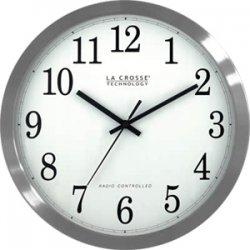 La Crosse Technologies - WT-3126B - La Crosse Technology(R) WT-3126B 12 Stainless Steel Atomic Wall Clock