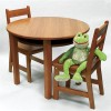 Lipper - 524P - Rnd Table Chair Set Pecan