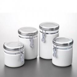 Anchor Hocking - 03922MR - Canister Set White Ceramic 4pc