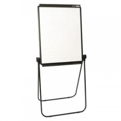 Acco Brands - 100TE - Unimate Total Erase Presentation Easel, 26 x 34, White Surface, Black Frame