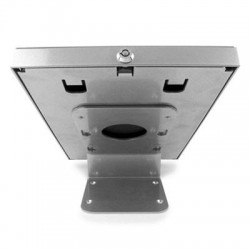 Compulocks Brands - 101S202ENS - iPad 2/3/4/Air/Air2 Secure Metal Jacket Enclosure with 45? Kiosk Silver - Silver
