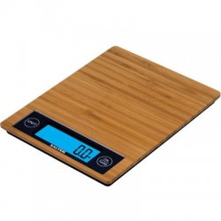 Taylor Precision - 1052BM - Salter Bamboo Kitchen Scale - 11 lb / 5 kg Maximum Weight Capacity - Brown