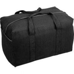 Stansport - 1095 - Stansport Carrying Case for Clothing, Gear, Travel Essential - Black - Cotton Canvas - Handle - 15 Height x 24 Width x 13 Depth