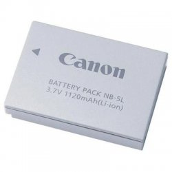 Canon - 1135B001 - Canon NB-5L Lithium-Ion Digital Camera Battery - Lithium Ion (Li-Ion) - 3.7V DC