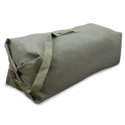 Stansport - 1200 - Stansport Deluxe Travel/Luggage Case (Duffel) for Travel Essential - Olive Drab - Cotton Canvas - Shoulder Strap, Handle - 25 Height x 42 Width