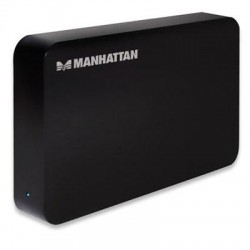 IC Intracom - 130295 - Manhattan SuperSpeed USB, SATA, 3.5 Drive Enclosure, Black - Fits standard 3.5 SATA drives with easy, quick installation - includes rear-mount power switch and LED indicator