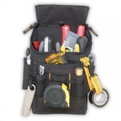 Custom Leathercraft - 1524 - Custom Leathercraft 1524 Double-Pull Zipper Snap-Back Ziptop Utility Pouch