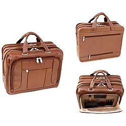 McKlein / Siamod - 15714 - McKleinUSA 15.6 Leather Fly-Through Checkpoint-Friendly Laptop Briefcase - Shoulder Strap, Hand Strap17 Screen Support - 13.5 x 16.5 x 11 - Leather - Brown