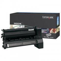 Lexmark - 15G031K - Lexmark Black Toner Cartridge - Black - Laser - 6000 Page - 1