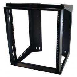 C2G (Cables To Go) - 16128 - C2G APW 12u x 18in Swing Out Wallmount Rack - Black - 12U