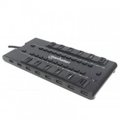 IC Intracom - 163606 - Manhattan 28-Port MondoHub II - USB - External - 28 USB Port(s) - 24 USB 2.0 Port(s) - 4 USB 3.0 Port(s)