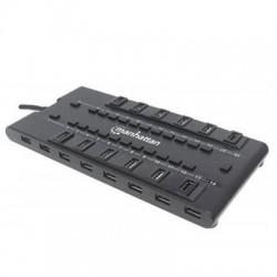 IC Intracom - 163606 - Manhattan 28-Port MondoHub II - USB - External - 28 USB Port(s) - 24 USB 2.0 Port(s) - 4 USB 3.0 Port(s)