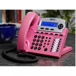 XBlue Networks - 1670-75 - XBlue X16 IP Phone - Cable - Pink - 6 x Total Line - VoIP - Caller ID - Speakerphone