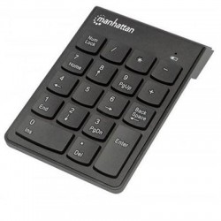 IC Intracom - 178846 - Manhattan Numeric Wireless Keypad, 18 Keys - USB, Wireless, 18 Full-Size Keys, Black