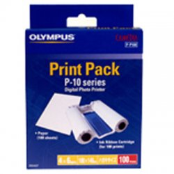 Olympus - 202079 - Olympus P-P100 Paper/Ribbon For P-10 and P-11 Printers - 100 Photo - Ribbon, Sheet