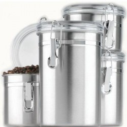 Anchor Hocking - 24954 - SS Canister Set w/ Clear Lids