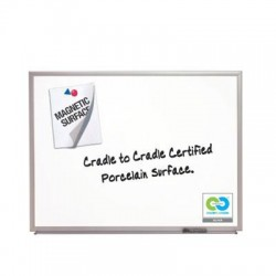 Acco Brands - 2545 - Classic Series Porcelain Magnetic Board, 60 x 36, White, Silver Aluminum Frame