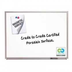 Acco Brands - 2548 - Classic Series Porcelain Magnetic Board, 96 x 48, White, Silver Aluminum Frame