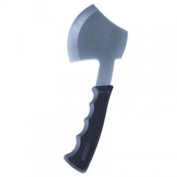 Stansport - 317 - Stansport Carbon Satin-Steel Compact Camp Axe - Carbon Steel - 14.50 oz - Non-slip Grip