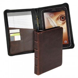 Samsill - 35024 - Samsill Vintage Carrying Case for 7.9 Tablet, Paper Sheet, Card, Stylus, Pen - Brown - Polyvinyl Chloride (PVC)