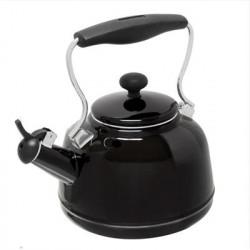Chantal Cookware - 37-VINT BK - Vintage Teakettle 1.7qt GlsBk