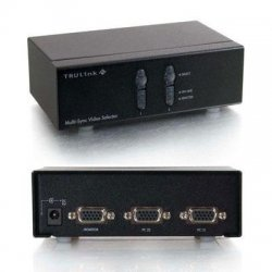 C2G (Cables To Go) - 39901 - C2G TruLink 2-Port QXGA Monitor Switcher/Extender - 2048 x 1536 - QXGA - 2 x 11 x VGA Out