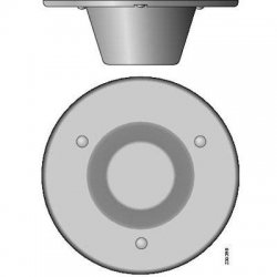 Cisco - 3G-ANTM1916-CM= - Cisco 3G-ANTM1916-CM Multi-band Omni-directional Ceiling-Mount Antenna - 1.71 GHz to 2.17 GHz - 2.5 dBiOmni-directionalOmni-directional