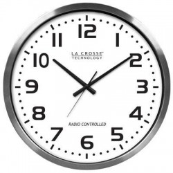 La Crosse Technologies - 404-1220 - XL 20in Atomic Aluminum Clock
