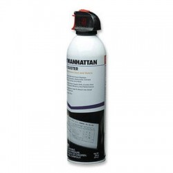 IC Intracom - 410632 - Manhattan Air Duster - 8 oz. - Ideal for use with flat panel displays, notebook computers, keyboards, camera and projector lenses and more