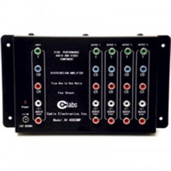 C2G (Cables To Go) / Legrand - 41065 - C2G 4-Output Component Video + Stereo Audio Distribution Amplifier - 4-way