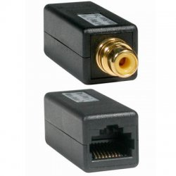 C2G (Cables To Go) - 41154 - C2G RCA Female to RJ45 Female Video Balun - 1 x RCA Female - 1 x RJ-45 Female - Black