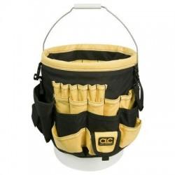 Custom Leathercraft - 4122 - Custom Leather Craft 4122 61-Pocket 37316 - 5 Gallon In & Out Bucket Pockets