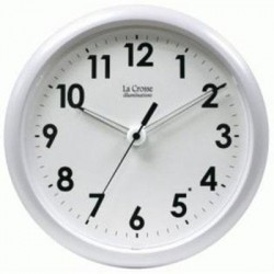 La Crosse Technologies - 403-310 - Illuminated 10in Clock Wht